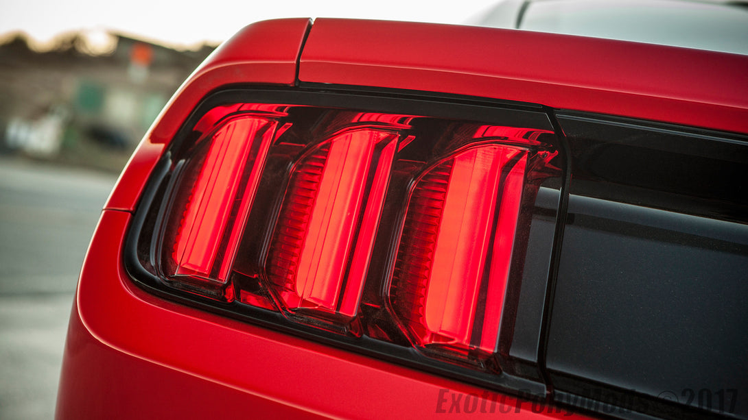 Complete 2015-2017 Mustang USDM RED Tail Light Retro Replacement Kit