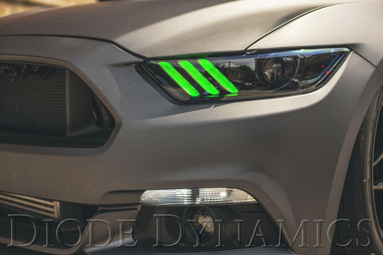 Australia Mustang Tribar Day Time Running Light (DRL) & Demon Eye Installation by EPM