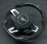 2015-2020 Custom made Mustang Carbon Fiber Alcantara Racing Inspired Steering Wheel with Digital Rev Meter