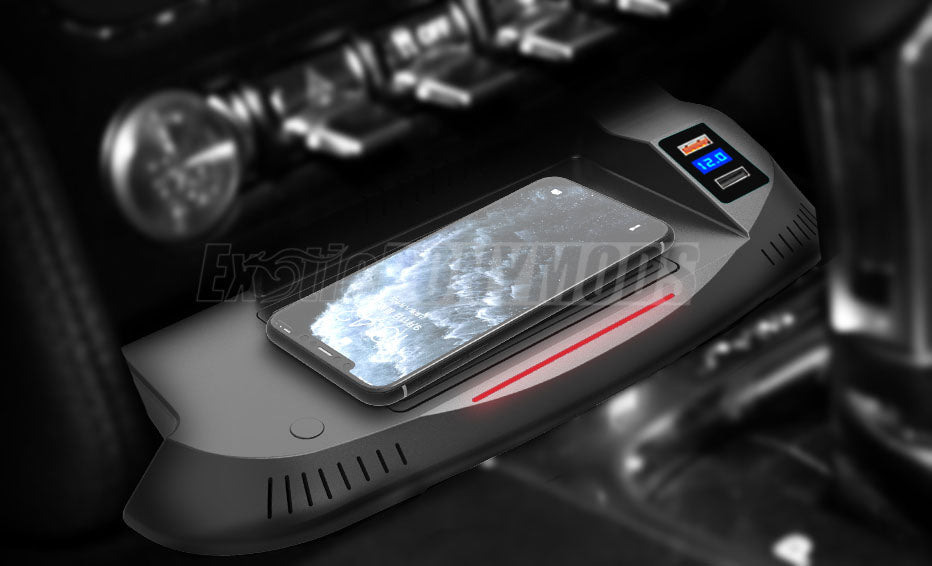 Integrated Mustang Wireless Charger for 2015-2020+ Mustang