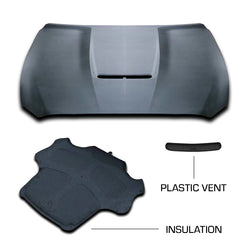 MMC Mustang GT350 Style Aluminium Bonnet/Hood with Vent & Insulation