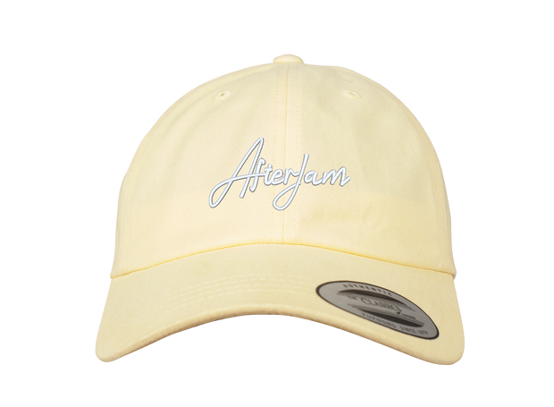 Scripted Dad Cap | Yellow