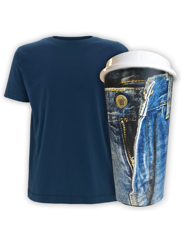Denim Blue, Limited Edition, Cup & Tee T-Shirt and Mug