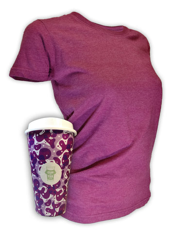 Plumb, Recycled, Plain, Cup & Tee T-Shirt and Mug