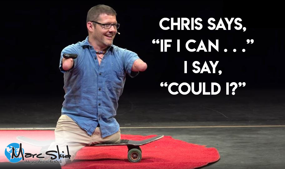 "Chris says, ""If I Can . . ."" I say, ""Could I?"""