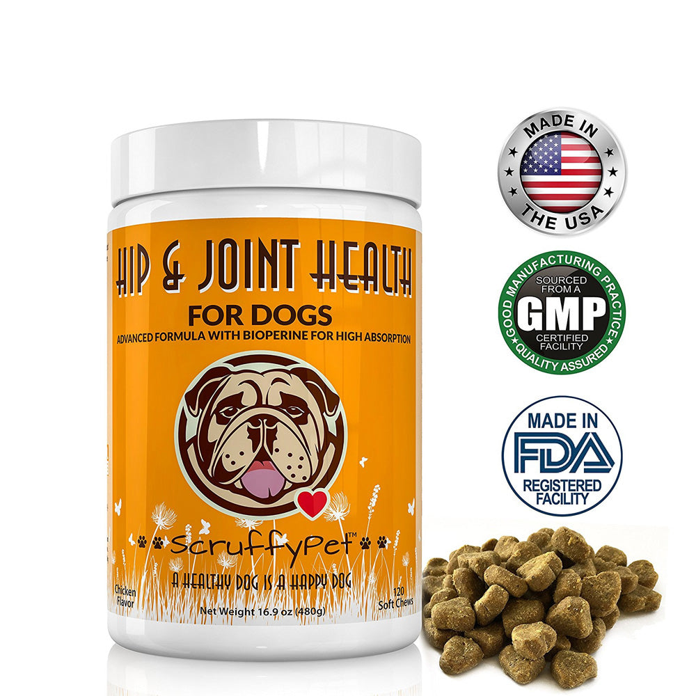 Hip And Joint Supplement For Dogs With 11 Active Ingredients
