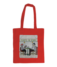 Shoulder Cotton Tote Bag - Cafe de Paw