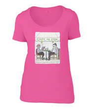 Women's Scoop Neck T-Shirt - Cafe de Paw
