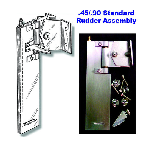 .45/.90 Rudder Assembly and parts