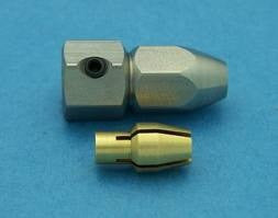 Electric motor flex collet