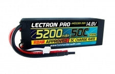 Lectron Pro 14.8V 5200mAh 50C Lipo Battery with Hard Case