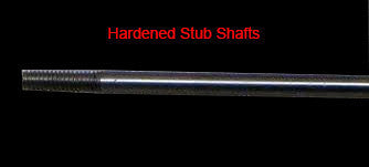 Hardened and Threaded Shaft Stubs