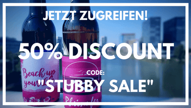 Zwei Stubbies mit Discount Code Stubby Sale
