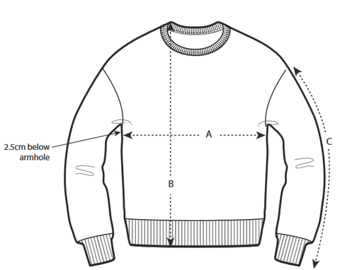 Size Guide Pullover