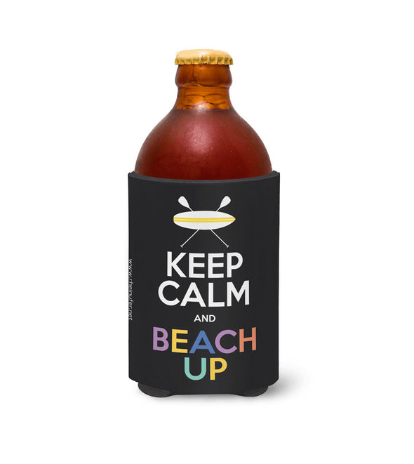 Keep Calm And Beach Up Stubby -