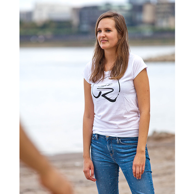 Rheinufer Logo T-Shirt Damen -