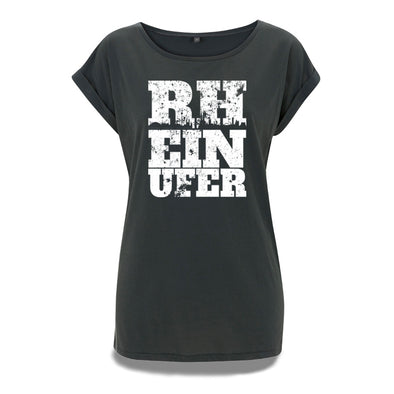 Rheinufer Inkpress Rolled Sleeve Tunika T-Shirt Damen - S / Kohlegrau / Köln
