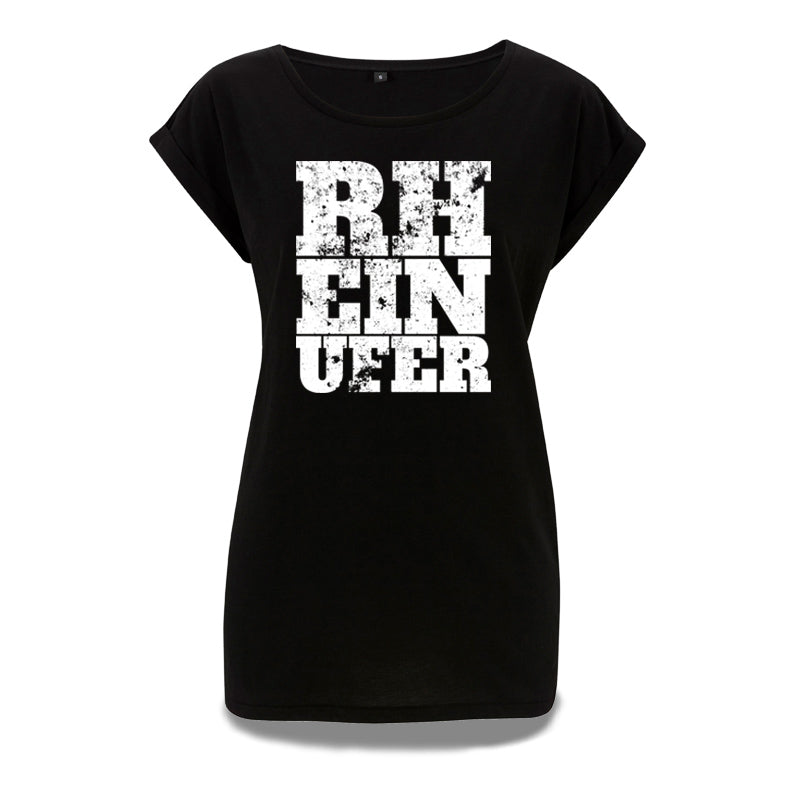 Rheinufer Inkpress Rolled Sleeve Tunika T-Shirt Damen - S / Schwarz / All Cities