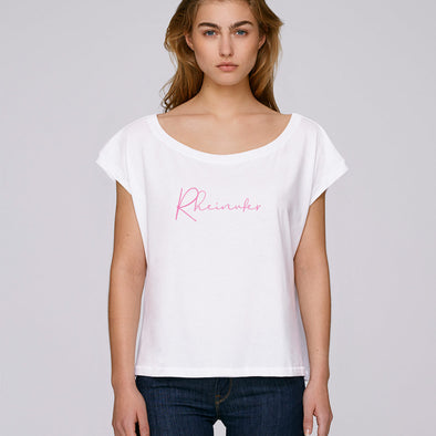 Fine Rheinufer Fledermaus-Ärmel T-Shirt Damen