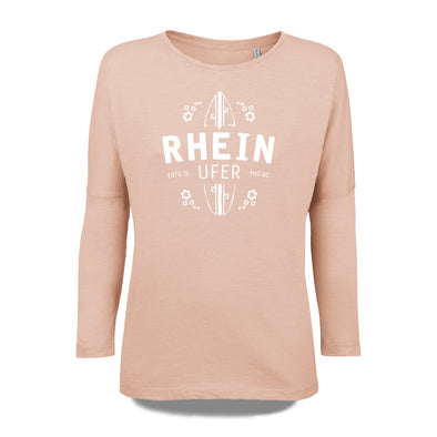 Rheinufer Surfbrett Longsleeve Damen - XS / Faded Nude