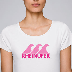 Rheinufer mit Welle T-Shirt Damen -