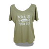 Beach Up Shirt mit Fledermaus-Ärmel Damen - XS / Khaki