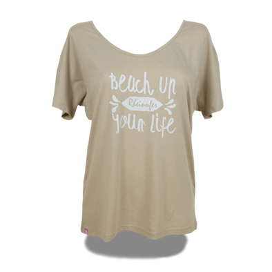 Beach Up Shirt mit Fledermaus-Ärmel Damen - XS / Nude