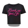 Extra kurzes Beach up your Life Shirt Damen - Schwarz / S