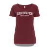 Rheinufer College T-Shirt Damen - XL / Bordeaux