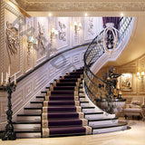 Purple Mansion Stair Backdrop