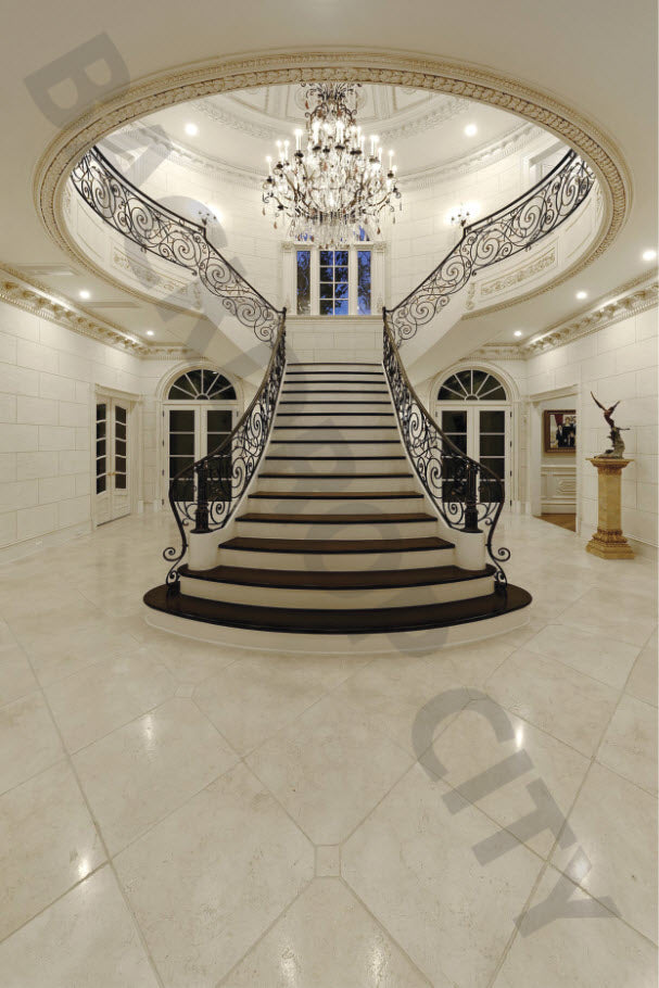 Elegant Ivory Stair Digital Image