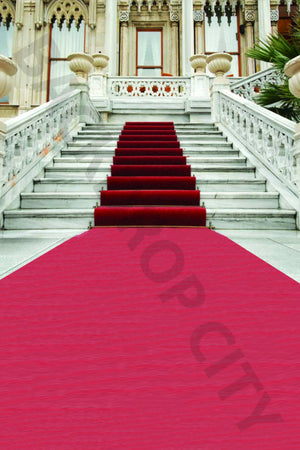 Red Carpet Outdoor Stair Backdrop