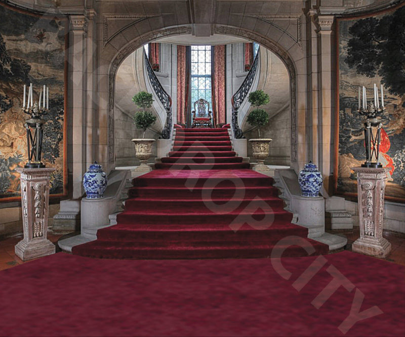 Burgundy Stair Backdrop