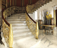 Gold Curved Stair Backdrop