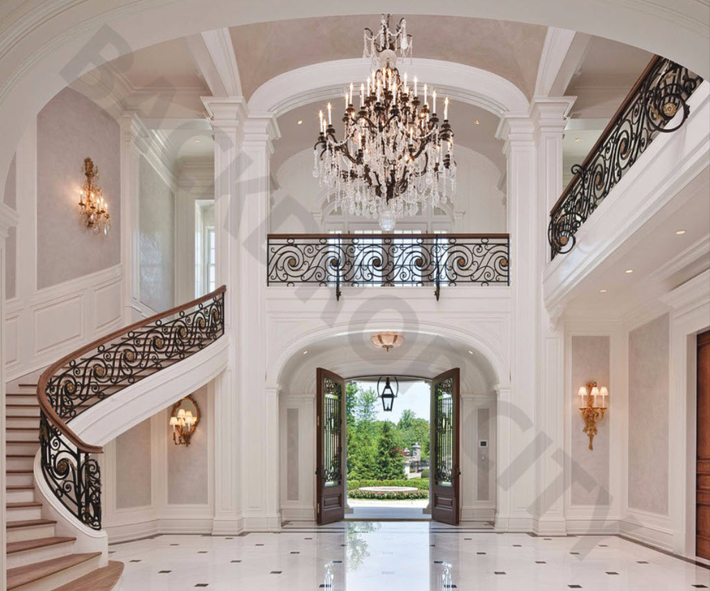 Superbe Mansion Stair Backdrop