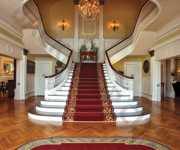 Southern Mansion Stair Backdrop
