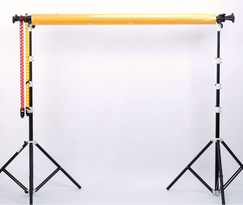 POLE MOUNTED MANUAL 2-ROLLER Backdrop SUPPORT SYSTEM