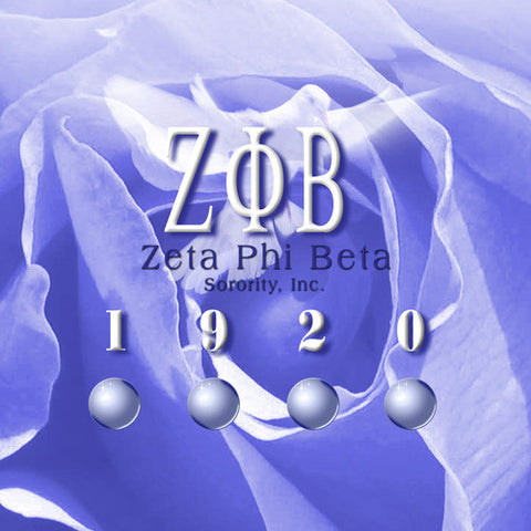 Zeta Phi Beta (Sorority) Computer Printed Backdrop - Backdrop City
