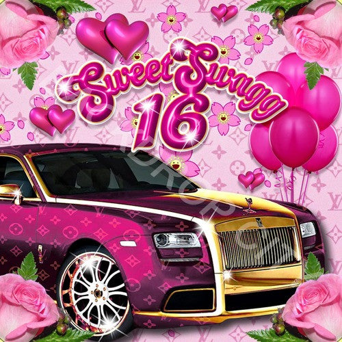 Sweet Swagg 16 Computer Printed Backdrop - Backdrop City