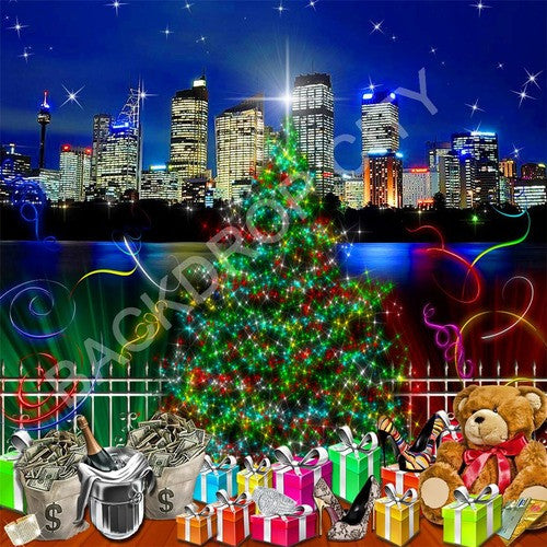 Christmas Money Computer Printed Backdrop - Backdrop City