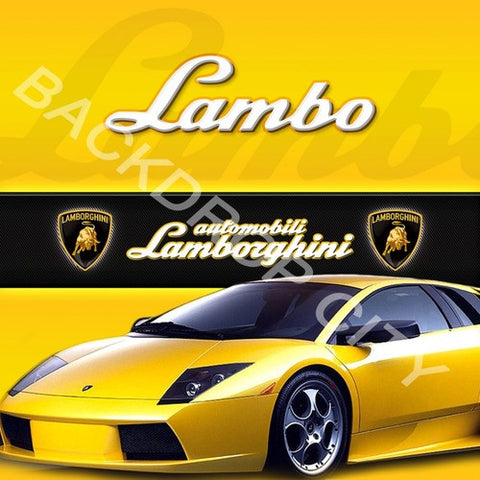 Lambo Computer Printed Backdrop - Backdrop City
