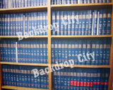 Blue Bookcase Computer Printed Backdrop - Backdrop City