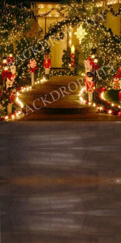 Christmas Lights Computer-Printed Backdrop - Backdrop City