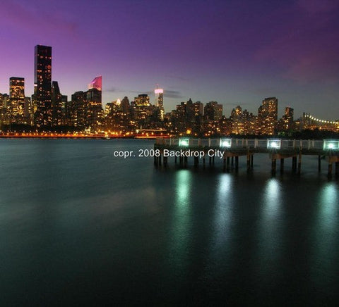 New York Skyline Computer Printed Backdrop - Backdrop City