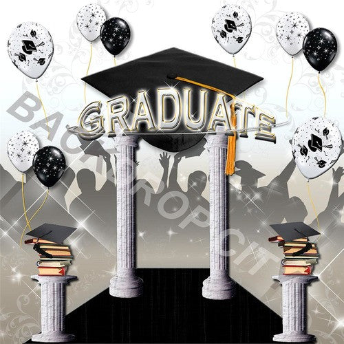 Graduation 3 Computer Printed Backdrop - Backdrop City