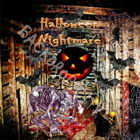 Halloween Room Computer Printed Backdrop - Backdrop City