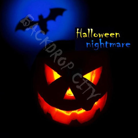 Halloween Nightmare Computer Printed Backdrop - Backdrop City
