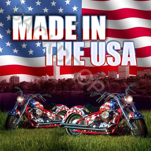 USA Motorcycles Computer Printed Backdrop - Backdrop City