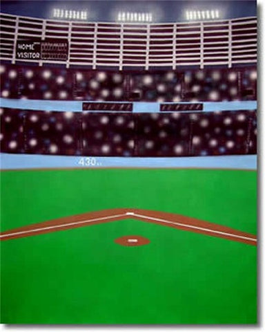 Baseball  Scenic Muslin Backdrop - Backdrop City