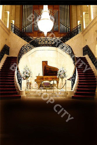 Piano Stair Computer Printed Backdrop - Backdrop City